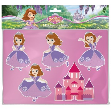 Disney Sofia the First trafaretai